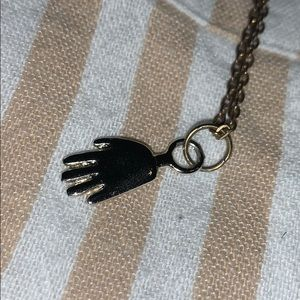 High-Five Necklace, purchased on Etsy!